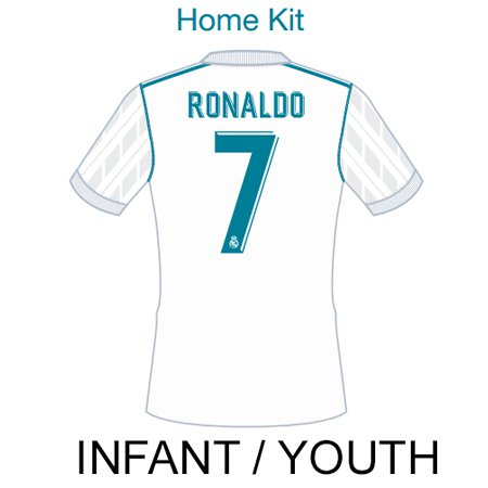 Real Madrid 2017 Youth Name Set Patch