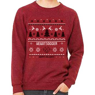 WGS Holiday Red Tree Sweater