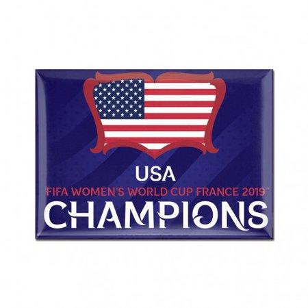 WinCraft USA Imán de campeones de la Copa del Mundo 2019 - 2.5