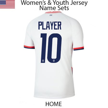 USA 2020 Womens and Youth Jersey Name Sets