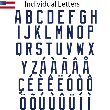 USA 2020 Letters (one size fits all)