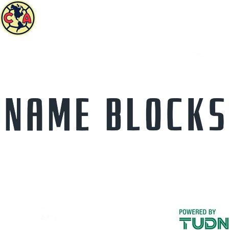 Club America 20-21 Adult Name Blocks