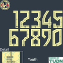 Club America 21-22 Youth Back Number