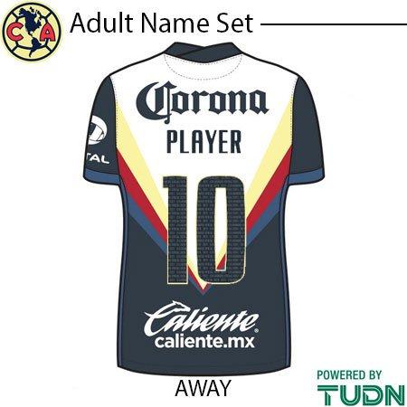 Club America 20-21 Adult Namesets