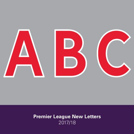 Premier League 2019 Adult Letters