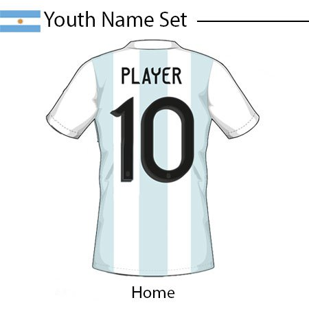 Argentina 2020 Youth Name Set