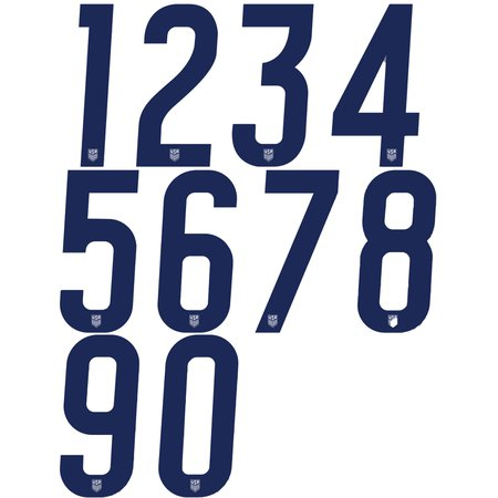 USA 2020 Mens Jersey Numbers 10in