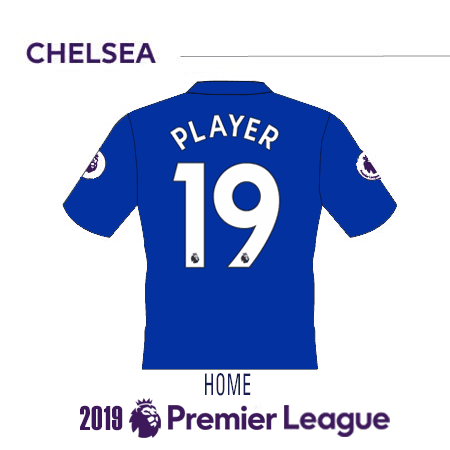 Chelsea 2019 Name Set Curved