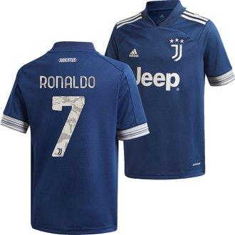 adidas Juventus Youth Ronaldo Away 2020-21 Replica Jersey
