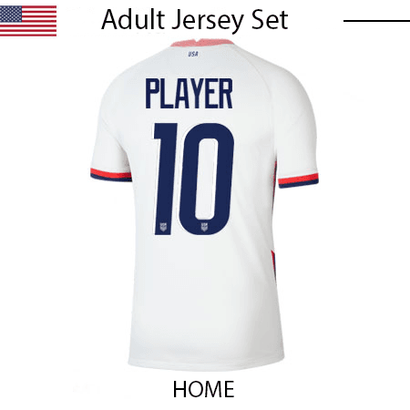 USA 2020 & 2021 Adult Jersey Set (10in Number)