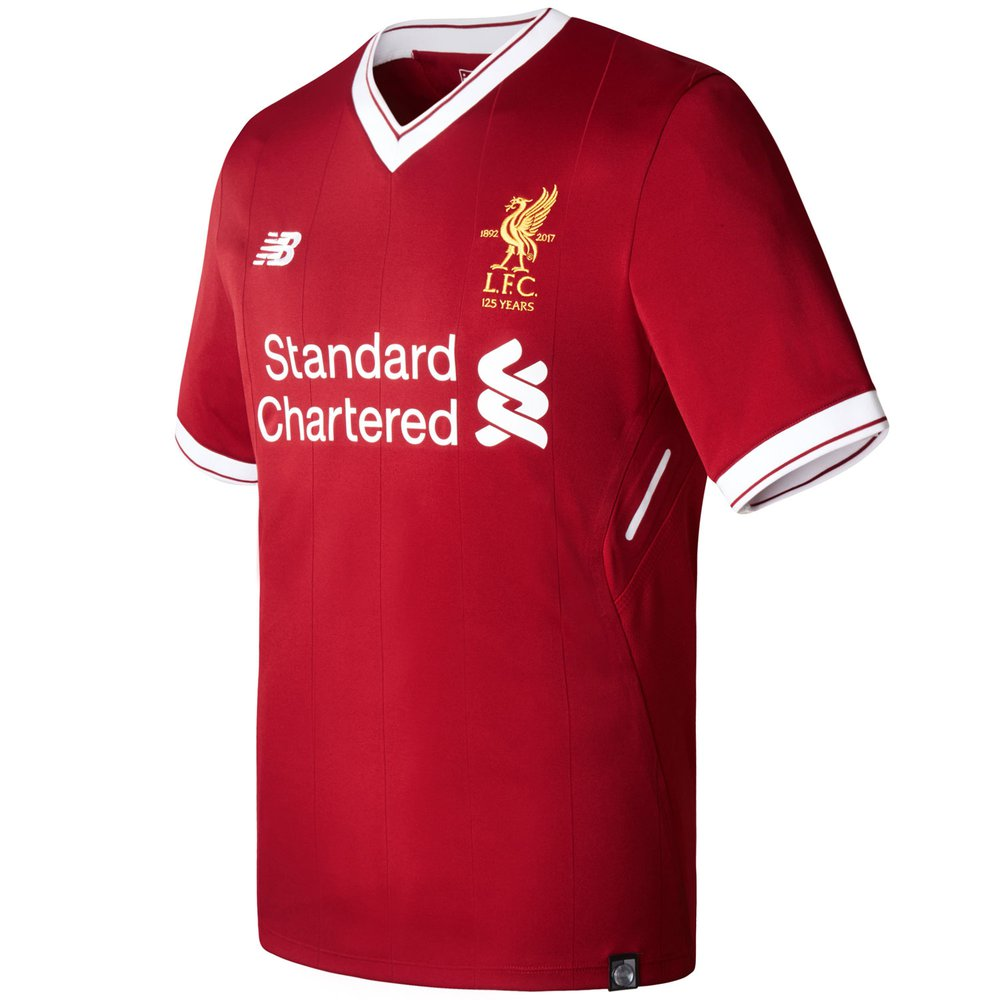 separation shoes b8337 4062d New Balance Liverpool Home 2017-18 Authentic Jersey ...