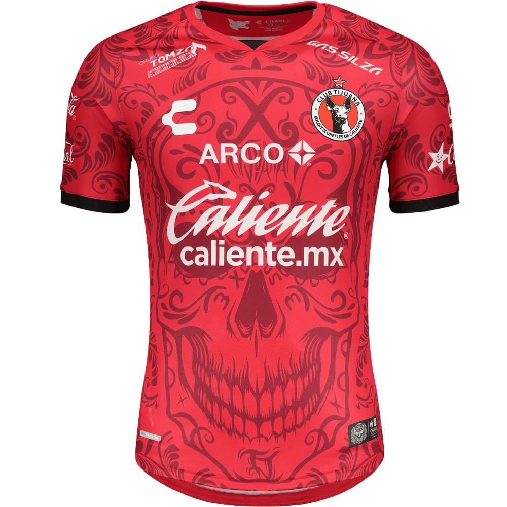 Men/'s Jersey Xolos de Tijuana Special Edition Dia de los Muertos Original Charly