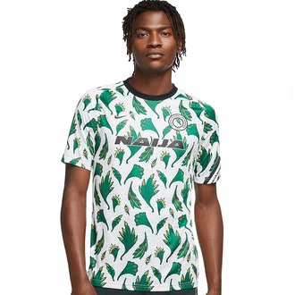 Nike Nigeria 2020 Short Sleeve Pre-Match Top