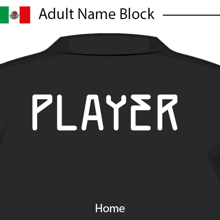 Mexico 2020 Adult Name Block