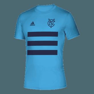 adidas 2021 NYCFC 3 Stripe Tee