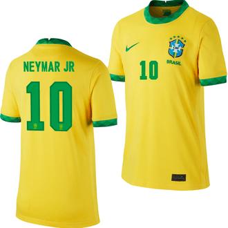 Nike Neymar Jr Brazil 2020-21 Youth Home Stadium Jersey