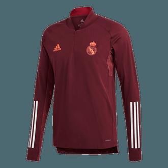 adidas Real Madrid Camiseta de Entrenamiento con Media Cremallera