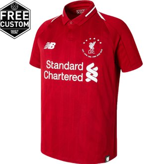 New Balance Liverpool 2018-19 UCL 6-Star Youth Home Stadium Jersey