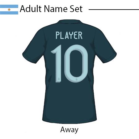 Argentina 2020 Adult Name Set