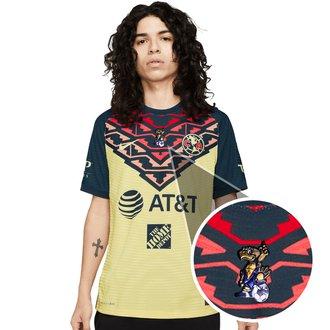 Nike Club América Jersey Auténtica de Local 21-22 con Parche de 40 años Cuauhtli