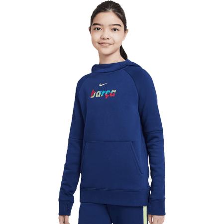 Nike 2020-21 Barcelona Youth Fleece Hoodie
