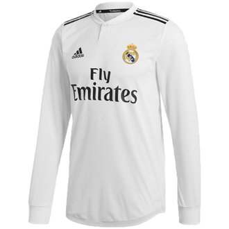 adidas Real Madrid 2018-19 Home Authentic LS Jersey