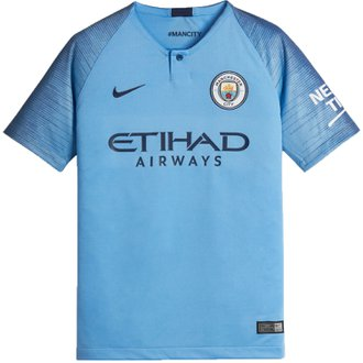Nike Manchester City 2018-19 Youth Home Stadium Jersey
