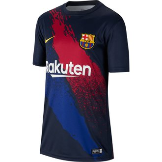 Nike FC Barcelona 2019-20 Dri-Fit Youth Prematch Top