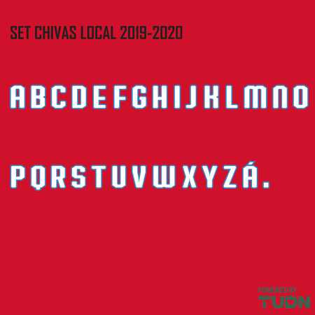 Chivas 2019-20 Adult Letters