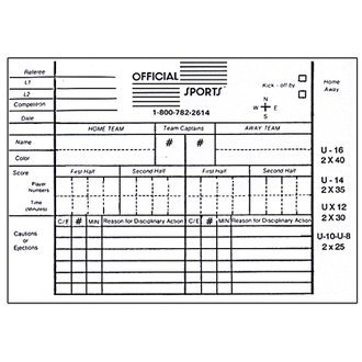 Official Sports Report Forms