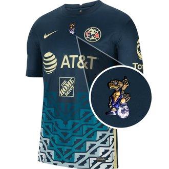 Nike Club América Jersey de Visitante 21-22 con Parche de 40 años Cuauhtli