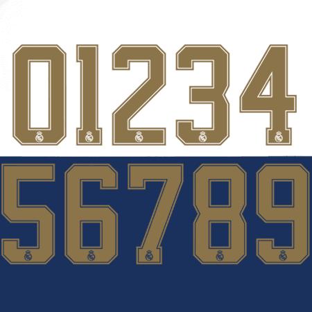 Real Madrid 2019 Adult Numbers