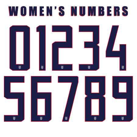 United States 2019 Womens Numbers