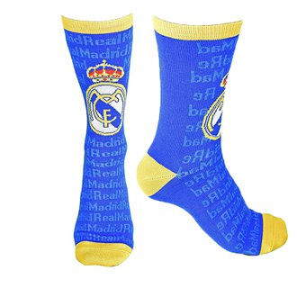 Real Madrid Logo Crew Sock Size 9-13